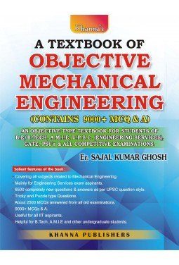 A Text Book of Objective Mechanical Engineering (Contains 9000 + MCQ & A)