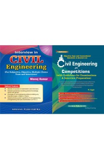 Objective Type Civil engineering with Interview in civil engineering 2 vol combo set
