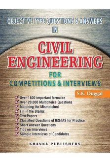 Objective Type Question & Answers in Civil Engineering For Competitions & Interviews